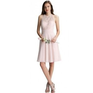 Bill Levkoff Lace Bodice Bridesmaid Sample Dress
